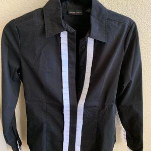 NY & Co. Ruffle Front Dress Shirt